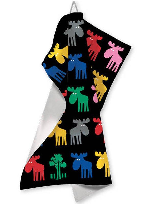 Kökshandduk Moose in colour. Se svenska souvenirer hos Textil ... 0a582046c1aac
