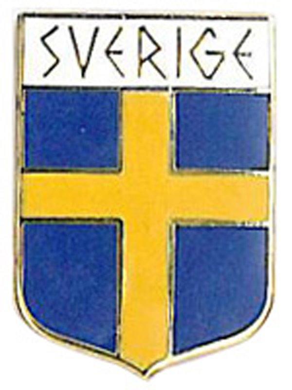Pins Flagga Runskrift Svenska souvenirer från Textil   Presentia ... adbd2352a76a1