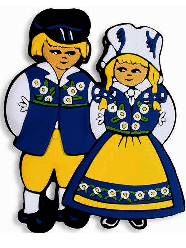 Kylskåpsmagnet par i sverigedräkt. Se fler svenska souvenirer hos ... 45642d2d9a77d