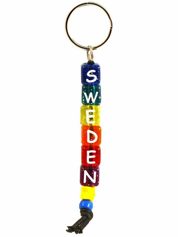 Nyckelring Plastkuber Svenska souvenirer från Textil   Presentia ... 86ab465885e06