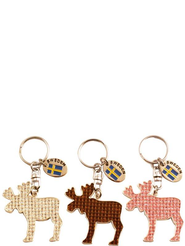 Nyckelringar Älgar Svenska souvenirer från Textil   Presentia ... d83b78e3bcba8