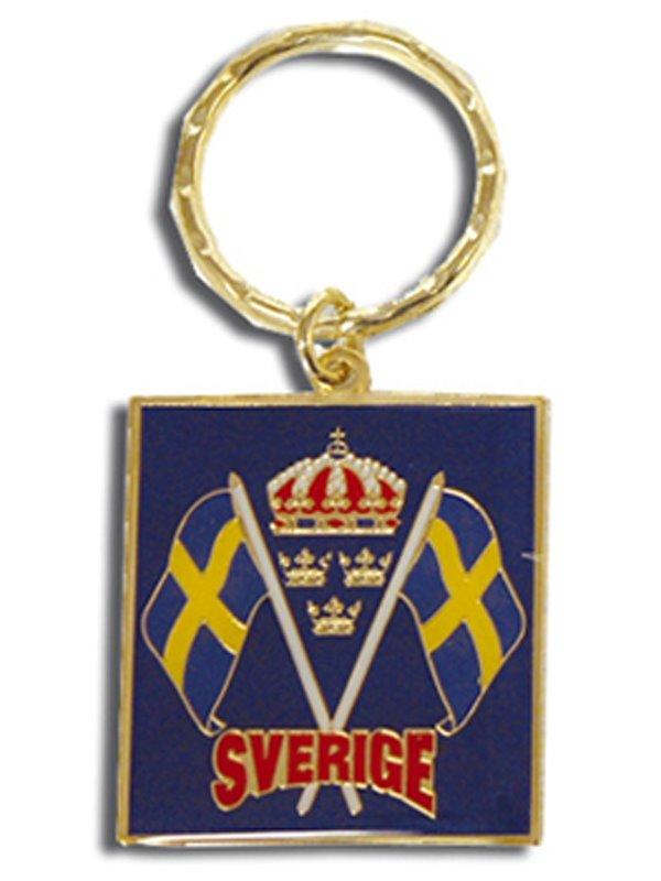 Nyckelringar med flaggor Sverige. Svenska souvenirer från Textil ... 3e279d5bbcc74