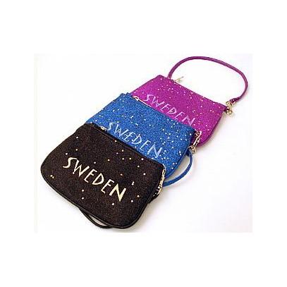 Glittrig väska Sweden. Se fler väskor och Souvenirer hos Textil ... 3813ffc599b76