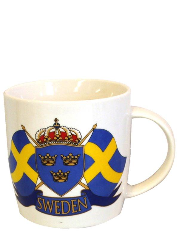 Mugg med svenska flaggor - Textil   Presentia 8e2129ee356b3
