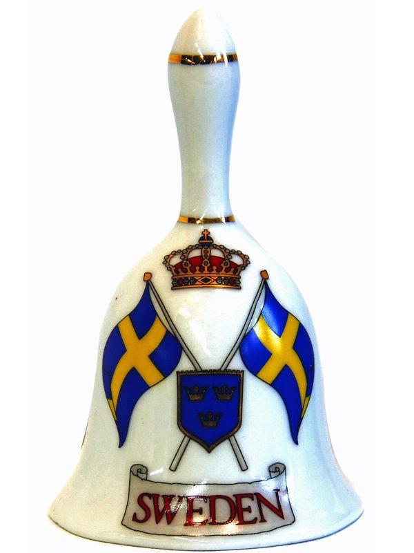 Bordsklocka med sverigeflaggor. Svenska souvenirer från Textil ... 079b6d6e85a71