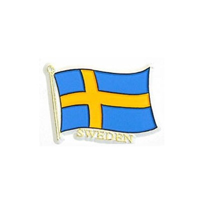 Kylskåpsmagnet svenska flaggan. Svenska souvenirer från Textil ... a9628ed9eda3f