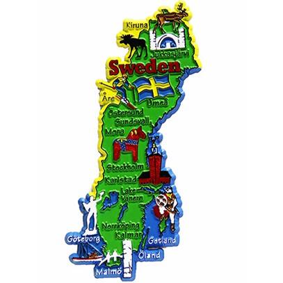 Handla frn hela vrlden hos pricepi sverigekarta 58120 kylskpsmagnet sverigekarta altavistaventures Choice Image