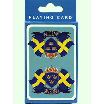 Kortlek Sverigflaggor. Svenska souvenirer från Textil   Presentia ... cee67835301f4