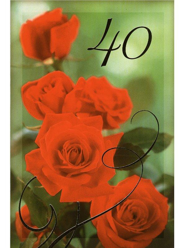 gratulationskort 40 år Grattiskort 40 år. Se fler gratulationskort hos Textil & Presentia  gratulationskort 40 år
