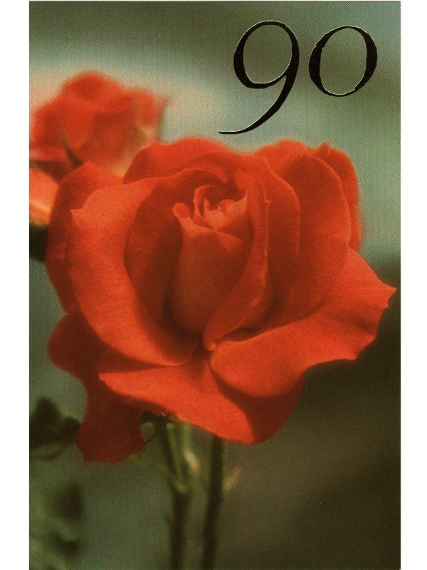 grattis på 90 årsdagen Grattiskort 90 år. Se fler gratulationskort hos Textil & Presentia  grattis på 90 årsdagen
