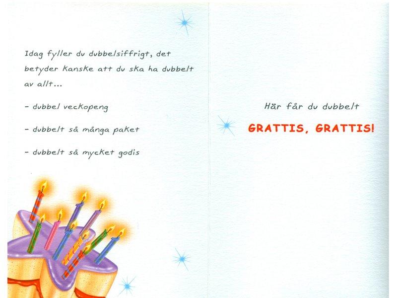 text till gratulationskort Gratulationskort 10 års dagen. Se fler Grattiskort hos Textil  text till gratulationskort