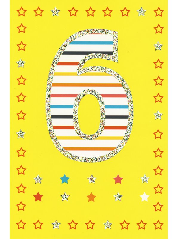 grattis på 6 årsdagen Gratulationskort 6 års dagen. Se fler grattiskort hos Textil  grattis på 6 årsdagen