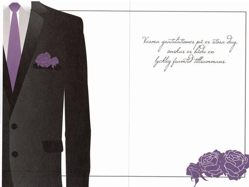text grattiskort bröllop Grattiskort Bröllop mellan två män. Se fler gratulationskort hos  text grattiskort bröllop