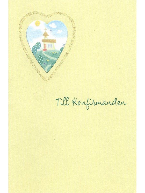 grattiskort konfirmation Konfirmationskort med kyrka. Se fler grattiskort hos Textil  grattiskort konfirmation