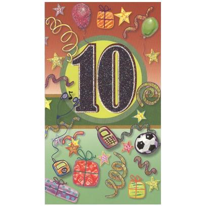födelsedagskort 10 år 10 År   Textil & Presentia födelsedagskort 10 år