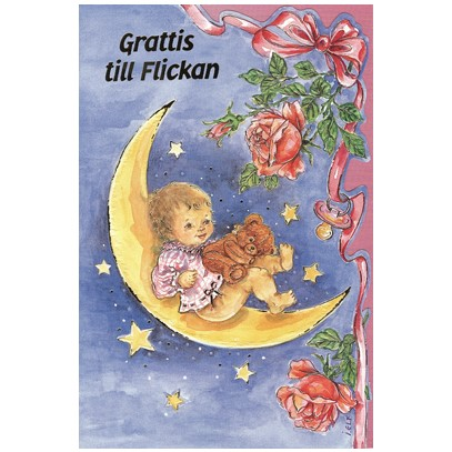 grattis till nyfödd Grattis till flickan   Textil & Presentia grattis till nyfödd