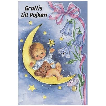 grattiskort nyfödd pojke Grattis till pojken   Textil & Presentia grattiskort nyfödd pojke