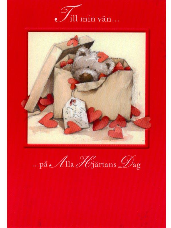 grattiskort alla hjärtans dag Till min vän   Textil & Presentia grattiskort alla hjärtans dag