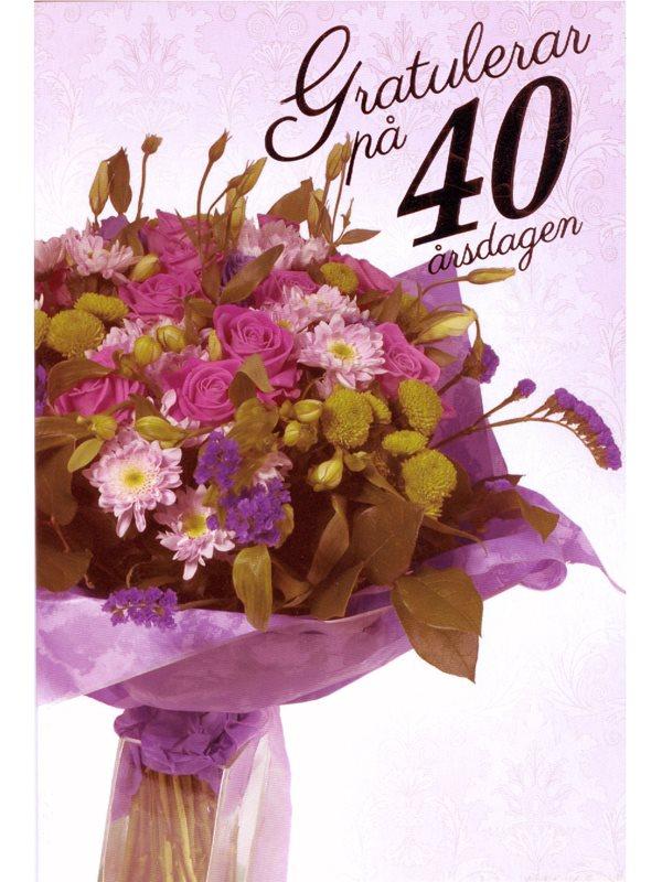 40 års gratulationskort Var köper man grattiskort till den som fyller 80 år? Textil  40 års gratulationskort