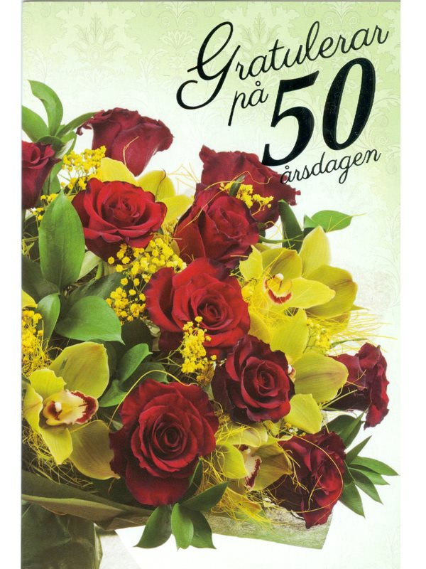 grattiskort 50 år 50 År   Textil & Presentia grattiskort 50 år