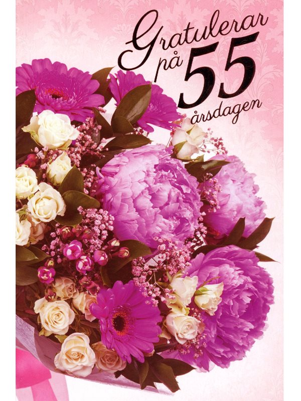 grattis på 55 årsdagen 55 År   Textil & Presentia grattis på 55 årsdagen