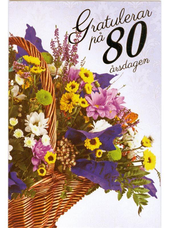 grattiskort 80 år Var köper man grattiskort till den som fyller 80 år? Textil  grattiskort 80 år