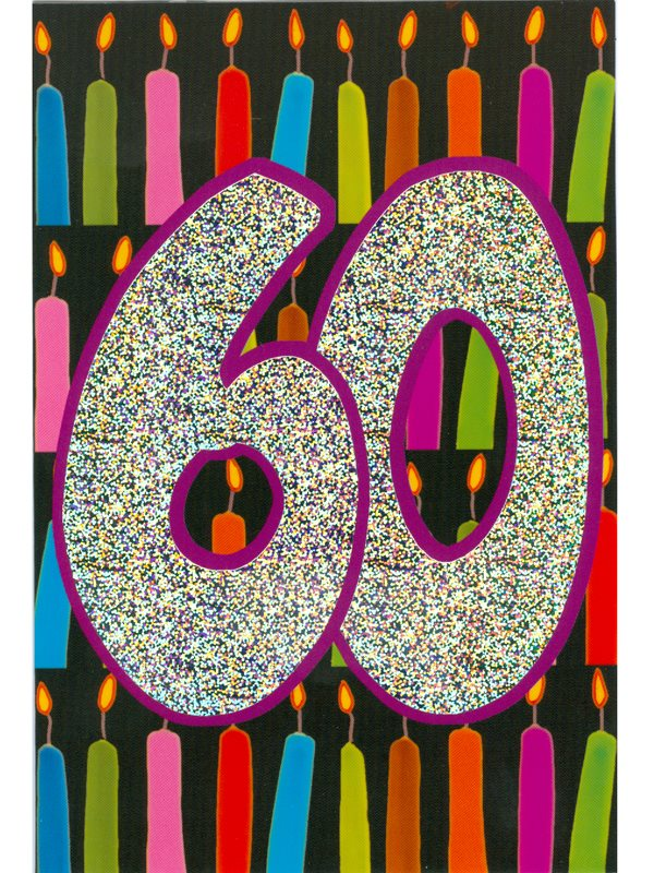 tackkort 60 år Grattiskort 60 år beställer du på nätet här av Textil & Presentia  tackkort 60 år