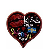 Kylskåpsmagnet Kiss from Sweden