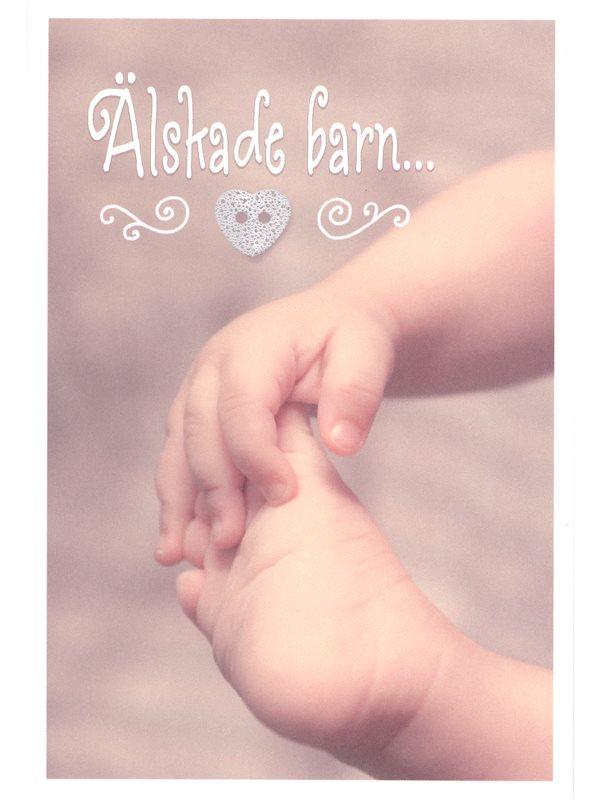 gratulationer till nyfött barn Dubbla grattiskort Älskade barn. Grattiskort till nyfödd, dop  gratulationer till nyfött barn