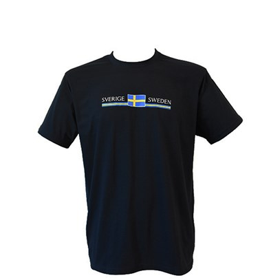 T-shirt Sverige Flagga Sweden XL